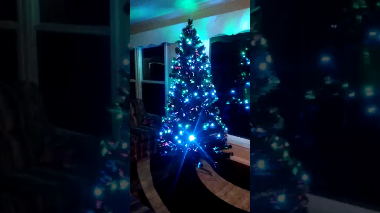 Walmart Pre Lit Christmas Tree With Led Multicolor Lights And Stand