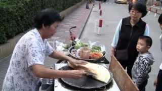 Chinese Street Food  (jian Bing)  Chinese Fast Food