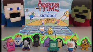 Adventure Time Toys Kidrobot X Action Figure Keychains Blind Box Case Unboxing Puppet Steve