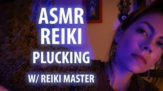 ASMR Reiki Plucking with Symbols and Hand Movements