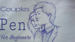 Couple in pen @for beginners    By EASK Arts