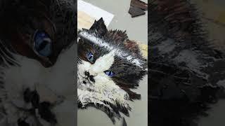 Флорентийская мозаика. Котёнок.