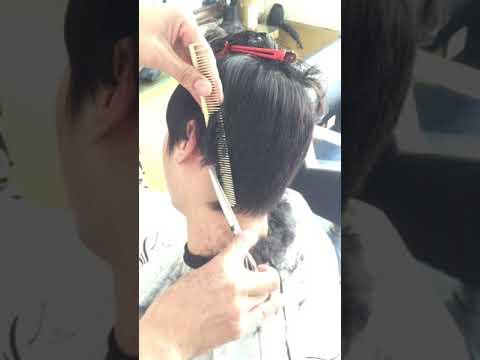 Cắt tóc nam bằng kéo cơ bản