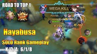 Hayabusa SOLO Rank Gameplay | Road to top 1 [K2 Zoro]