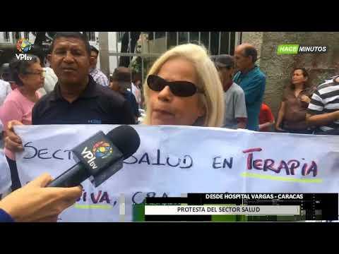 Venezuela- Protesta de médicos y pacientes en el Hospital Vargas en Caracas -VPItv