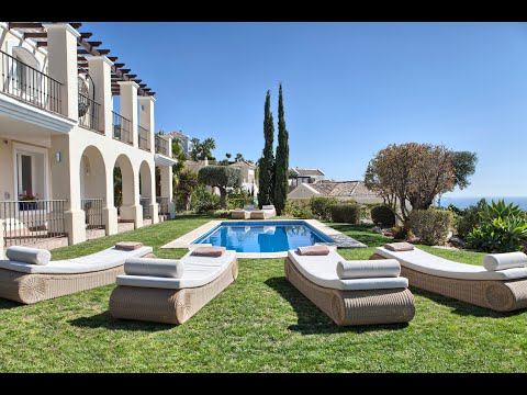 villa with spectacular sea views for sale in sierra blanca country club marbella youtube. Black Bedroom Furniture Sets. Home Design Ideas