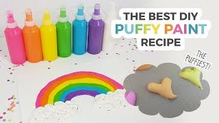 The BEST DIY Puffy Paint Recipe (Dries SUPER Puffy!)