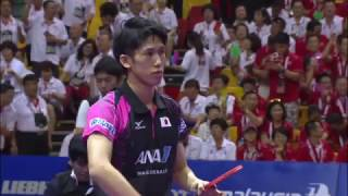 2016吉隆坡世乒赛 马龙Ma Long VS 吉村真晴 世界卓球2016マレーシア 馬龍 VS  吉村真晴