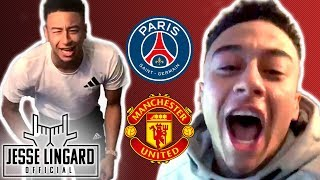 PSG 1-3 Man United  JESSE REACTS United Through to Quarter Finals  Jesse Lingard