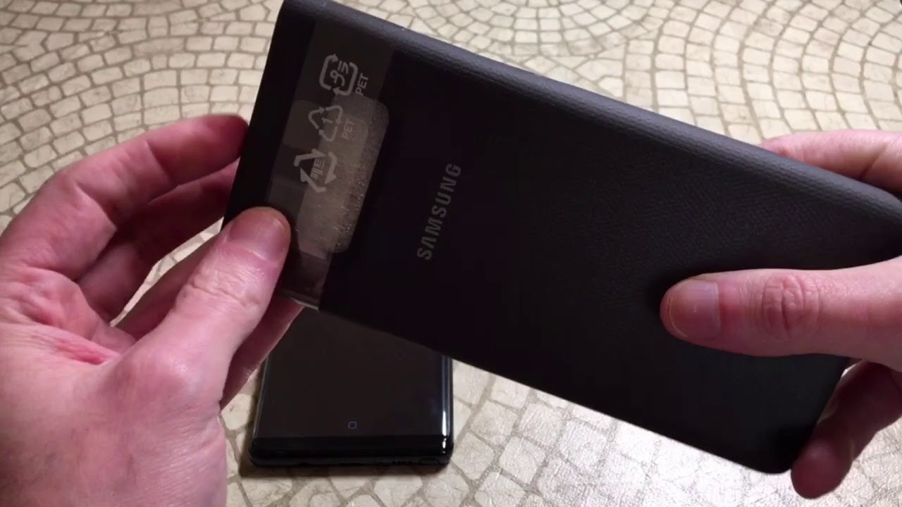 uk availability 824e4 758a5 Official Samsung Galaxy Note8 LED View Wallet Case Unboxing and Review