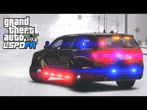 GTA 5 - LSPDFR Ep424 - Travel Ban During a Blizzard!!