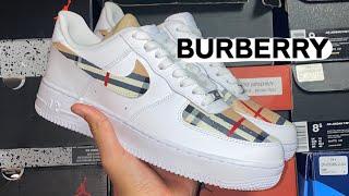 Air Force 1 Burberry CUSTOM😍💦(satisfying)