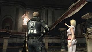 Resident Evil 4 Biohazard 4 - Leon/Ashley Castle Gameplay (PC) (4K60) (RE4 HD)