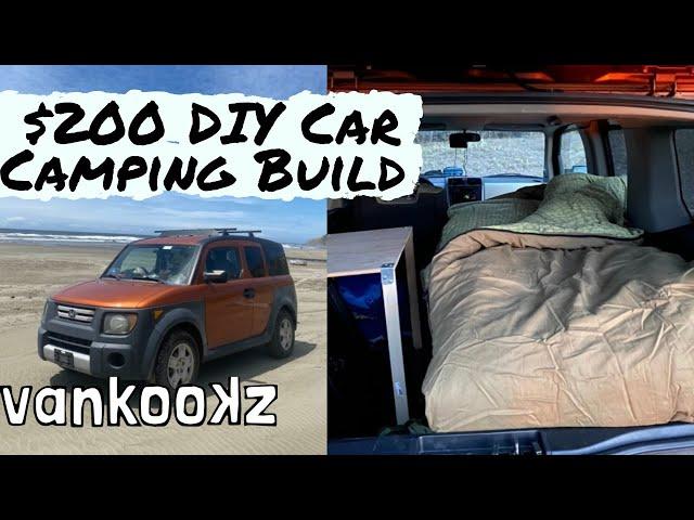 How to Live Van Life in a Car | Honda Element Camper Build