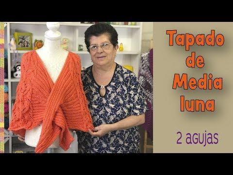 Tapado de media luna tejido a dos agujas o palitos / Tejiendo Perú