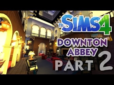 The Sims 4 House Building: Downton Abbey / Highclere Castle - Part 2 - (Real Time)