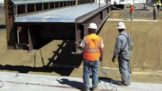 Setting a Bridge Girder