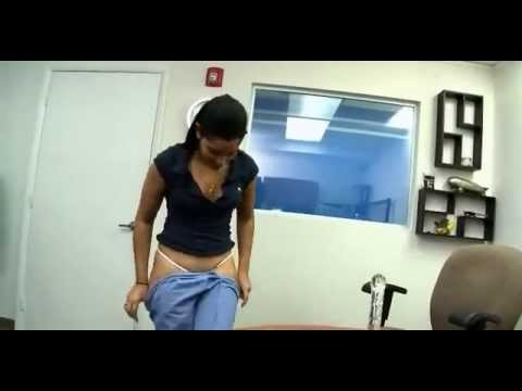 Girl stripping in office thumbnail
