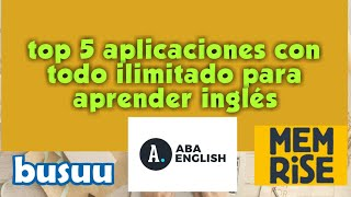 Descargar apps premium para aprender idiomas aba English busuu apk memrise APK babbel apk Rosetta