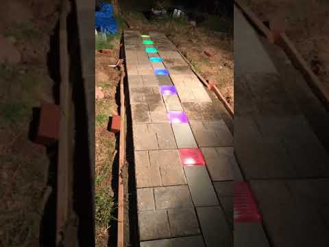 Solar Powered LED Path Project