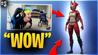 NINJA REACTS TO CUSTOM NEW LEGENDARY TRICERA OPS SKIN! Fortnite Funny Fails And WTF Moments #3