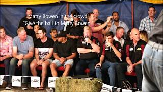 Levi Page fights local - Outback Fight Club - Mt Isa 2016