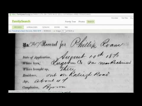 Genealogy Adventures - Freedman's Bank Records