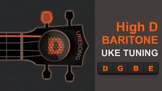 baritone high d  ukulele tuning  - online ukulele tuning