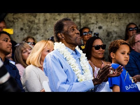 UCLA dedicates track to Olympic icon Rafer Johnson and wife Betsy