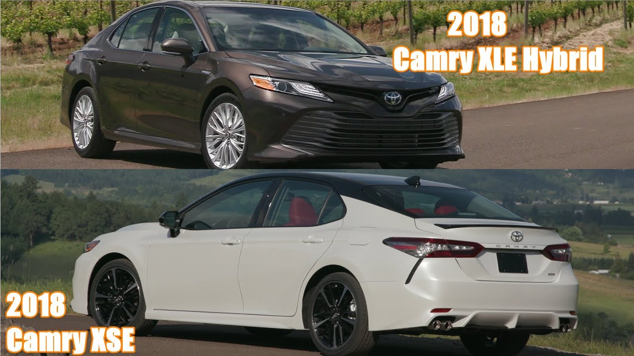 2018 toyota camry xse v6 xle hybrid exterior interior drive youtube. Black Bedroom Furniture Sets. Home Design Ideas