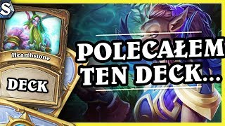 POLECAŁEM TEN DECK NA STREAMIE! - TOKEN DRUID - Hearthstone Deck Std (Witchwood)
