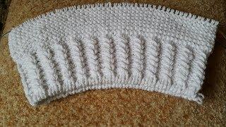 УРОК 12. Вязание спицами: резинка с перекрещенными петлями