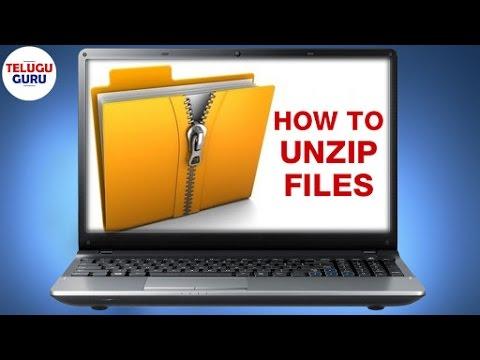 How to Unzip Files   www ezyzip com   Telugu Online Tutorial   Telugu Guru