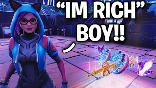 I met a Rich Millionaire Scammer!! 🤑😂 (Scammer Get Scammed) Fortnite Save The World
