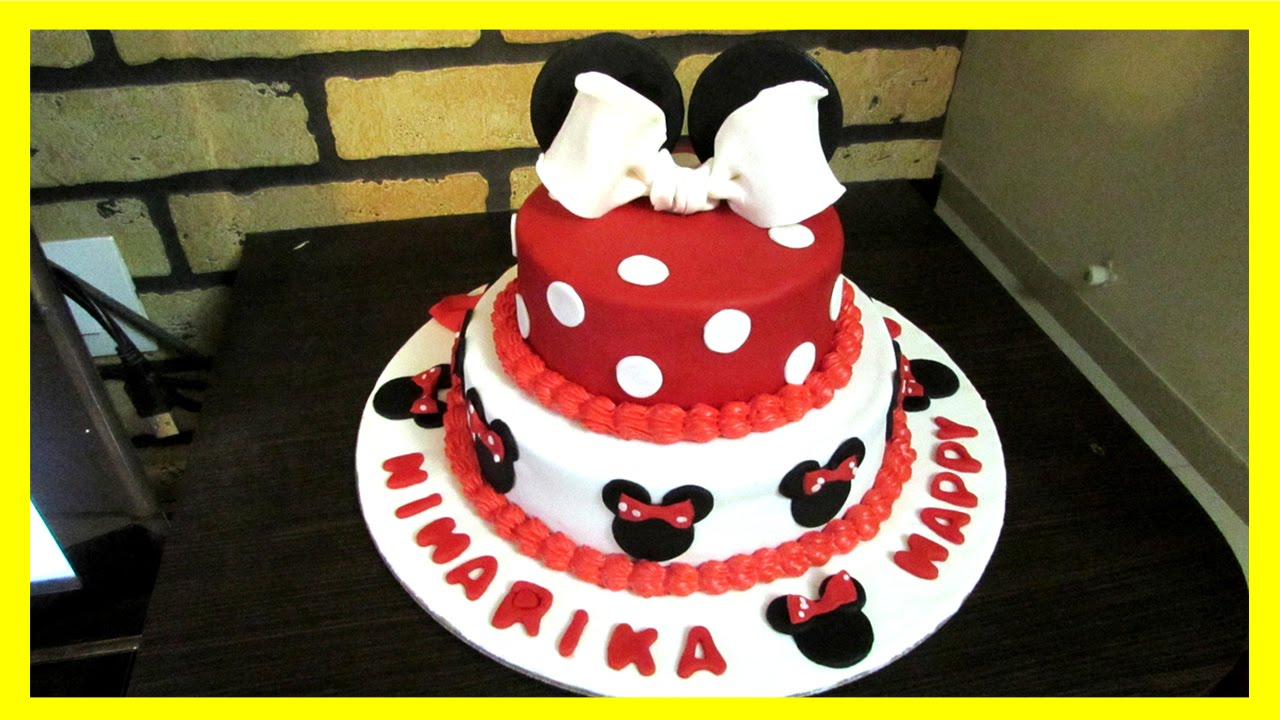 Mickey And Minnie Mouse Theme Cake Tutorial How To Video