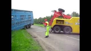Грузовой эвакуатор .Скотовоз в кювете .(, 2016-05-31T18:50:00.000Z)