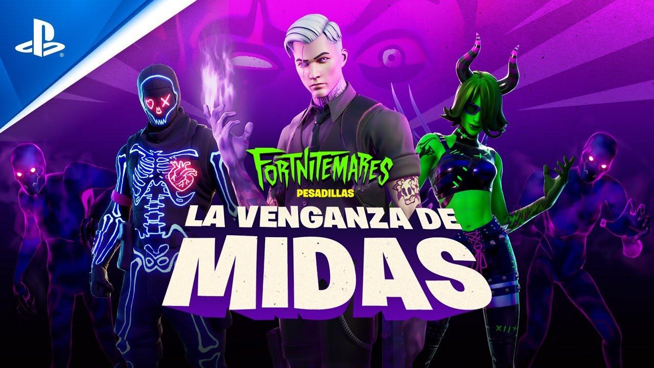 Fortnite - Fortnitemares 2020 La Venganza de Midas Trailer | PS4