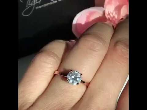1.5 ct Solitaire Engagement Ring Rose Gold