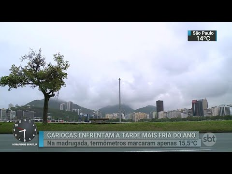 São Paulo vive o dia mais frio do ano nesta sexta-feira (15) | SBT Brasil (15/06/18)