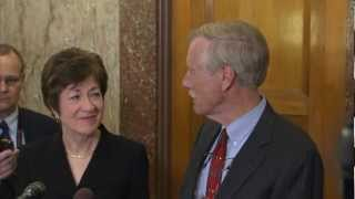 Senator Susan Collins welcomes Senator-Elect Angus King to Washington, DC