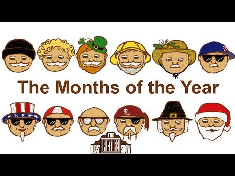 The Months of the Year Rock Song  The Kids Picture Show Fun & Educational Learning
