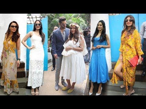 Neha Dhupia's Godh Bharai Ceremony- Jhanvi,Shilpa,Preity,Sonakshi,Salman Khan Family