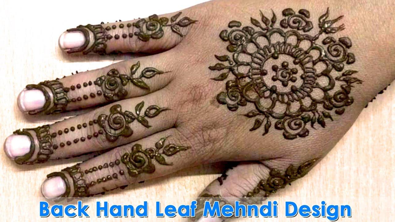 Leaf backhand mehndi design best back hand henna design mehndi leaf backhand mehndi design best back hand henna design mehndi design tutorial video baditri Images