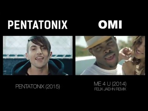 Cheerleader - Pentatonix & OMI (side by side)