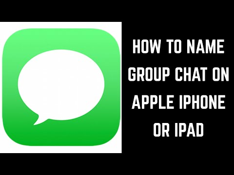 How To Name Group Chat On IPhone Or IPad