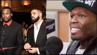 WANKSTA! 50 Cent Admits He Wanted To Slap Meek Mill Over Drake Beef!| FERRO REACTS