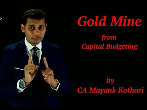 Gold Mine Question from CA Final SFM by CA Mayank Kothari
