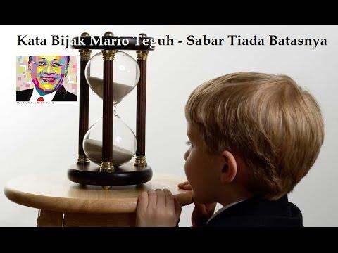 Kata Bijak Mario Teguh Sabar Tak Ada Batasnya Youtube