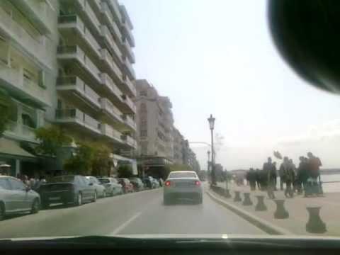 Thessaloniki - Paralia - Eptapyrgio (in-car cam)