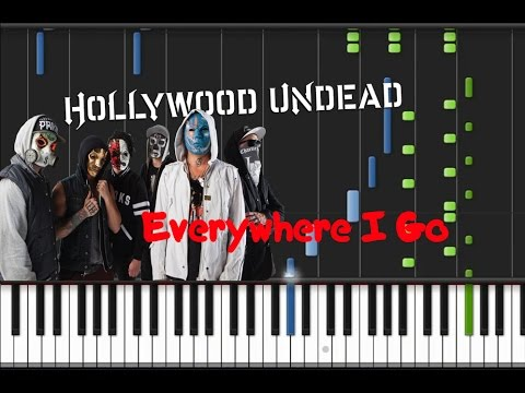 Hollywood Undead - Everywhere I Go [Piano Cover Tutorial] (♫)